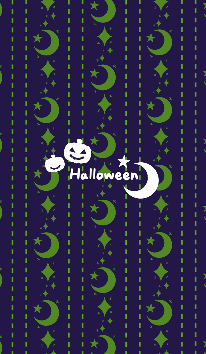Midnight moon and stars -Halloween2019-