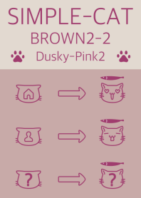 simple cat brown2-2 dpink2