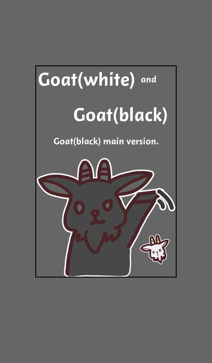 Goat(white) and Goat(black)-BLACK