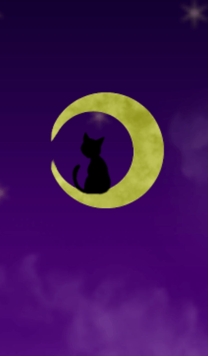 Black cat and moon.