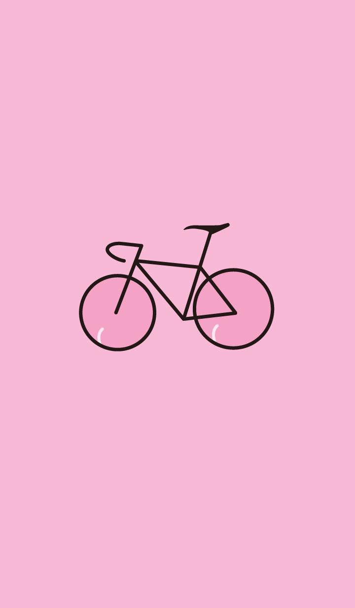 ธีมจักรยานสีชมพู(พีช)!