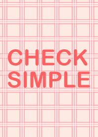 CHECK SIMPLE pink pattern