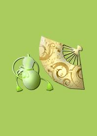 ธีมไลน์ The strongest money luck icon lightgreen