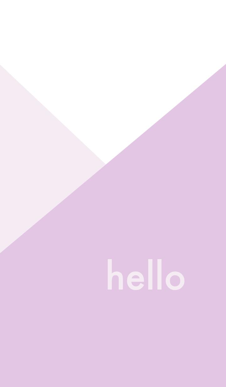 hello - くすみパープル