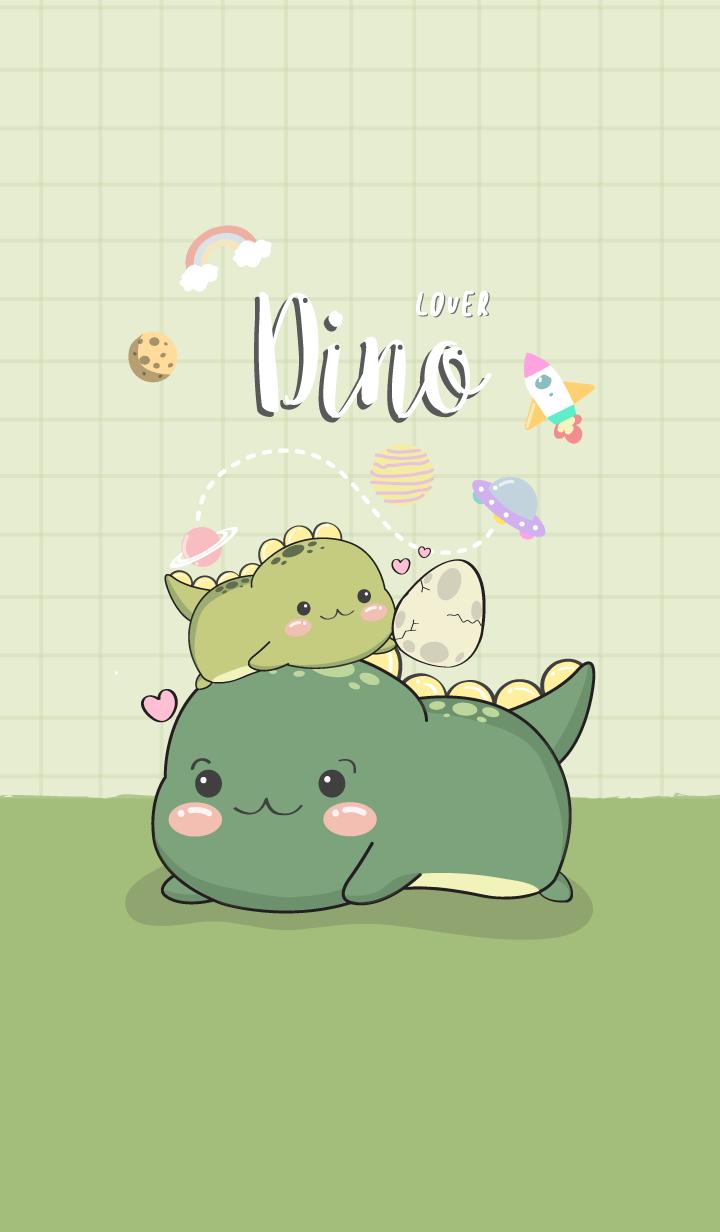 Dino Lover. bright green