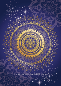 Lucky mandala -Gold & Navy-*