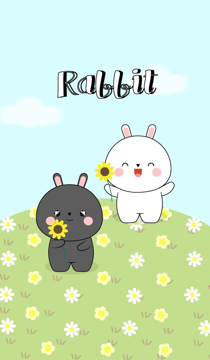 Cute Black Rabbit & White Rabbit (jp)