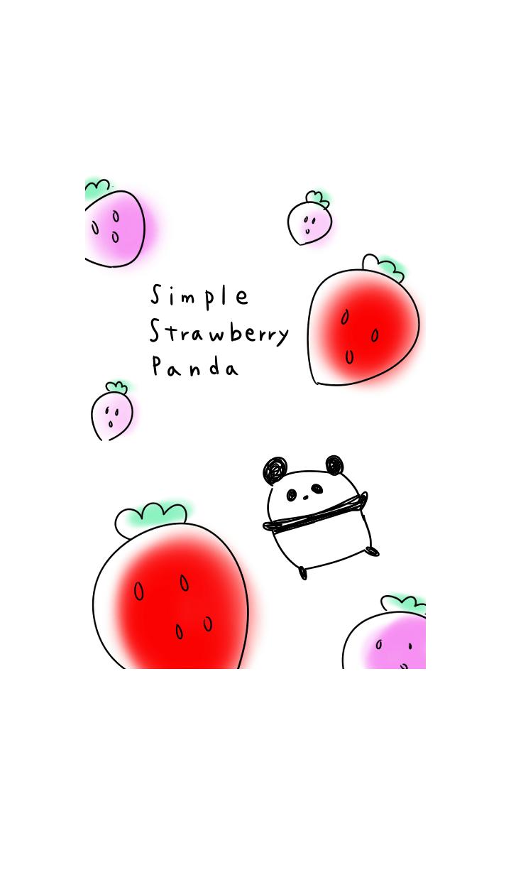 simple Strawberry Panda.