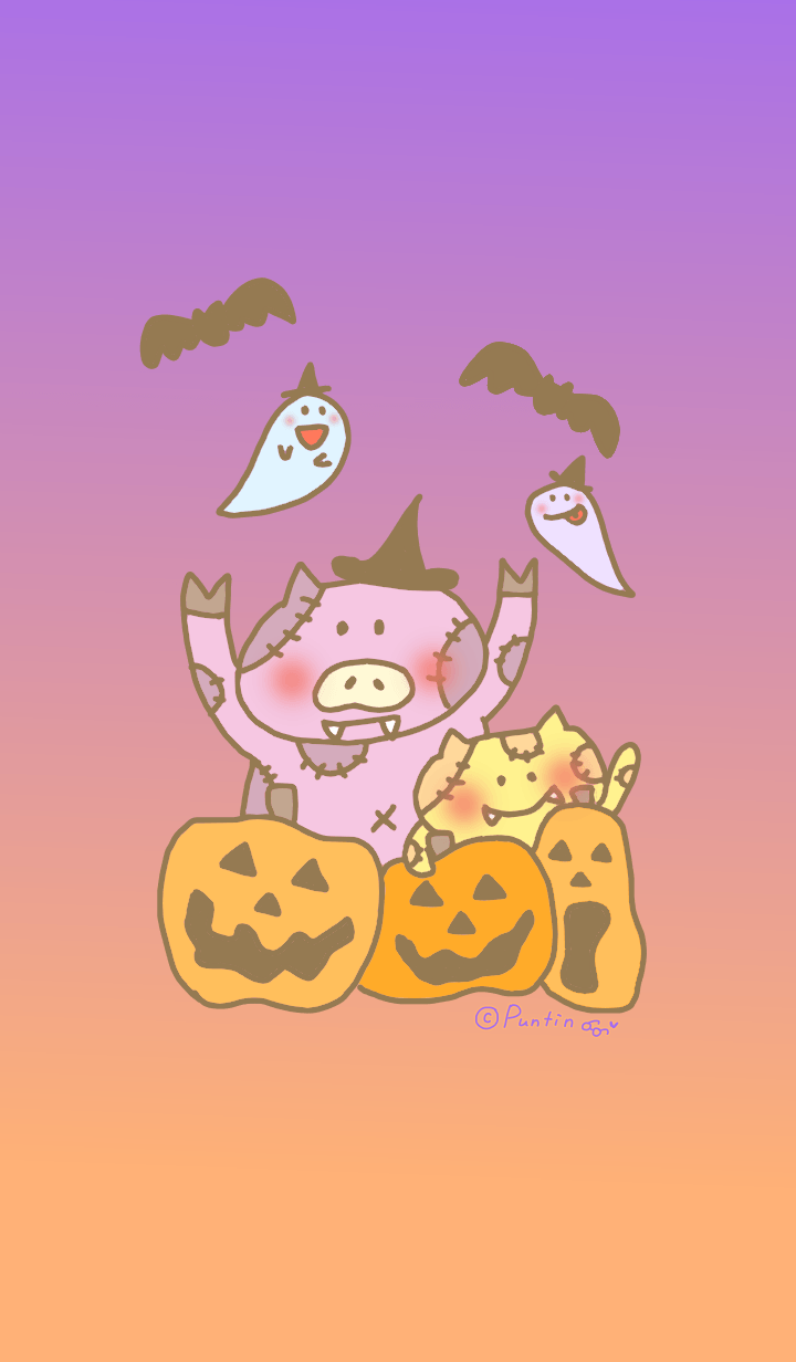 Happy party with cute Halloween2019