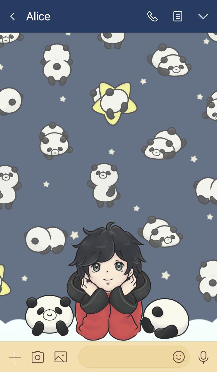 Panda and me.