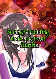 Summer's painting maid macaroon Hurikin
