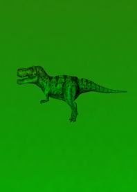 Deep Green Simple Dinosaur