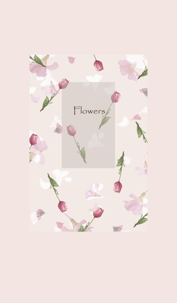 スプリング・チューリップ・ピンク壁紙