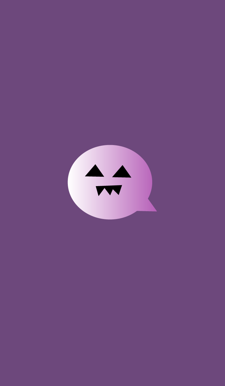 simple Halloween(purple3)