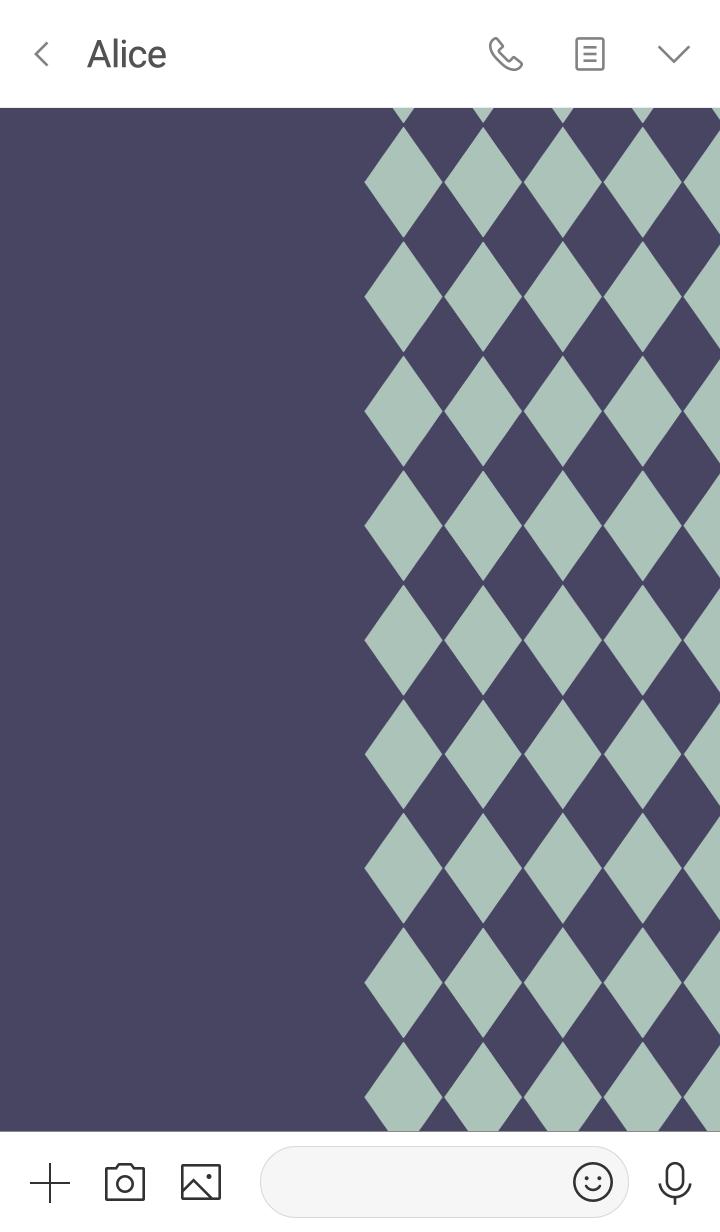 Chic diamond pattern -Purple-