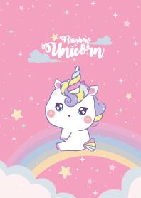 Unicorns Rainbow Pink