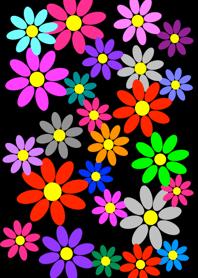 Colorful Flower [ Black ] Ver. 2