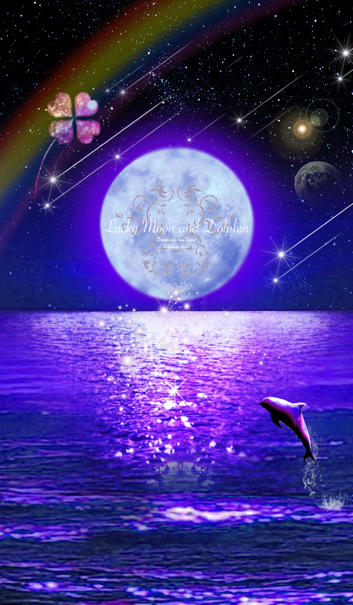 Lucky Moon and Dolphin