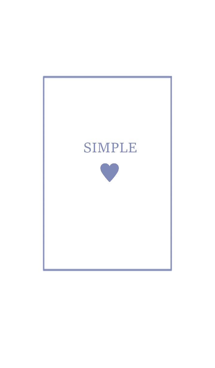 SIMPLE HEART =soft blue=