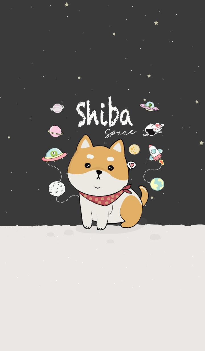 Shiba Inu dog. (Black)