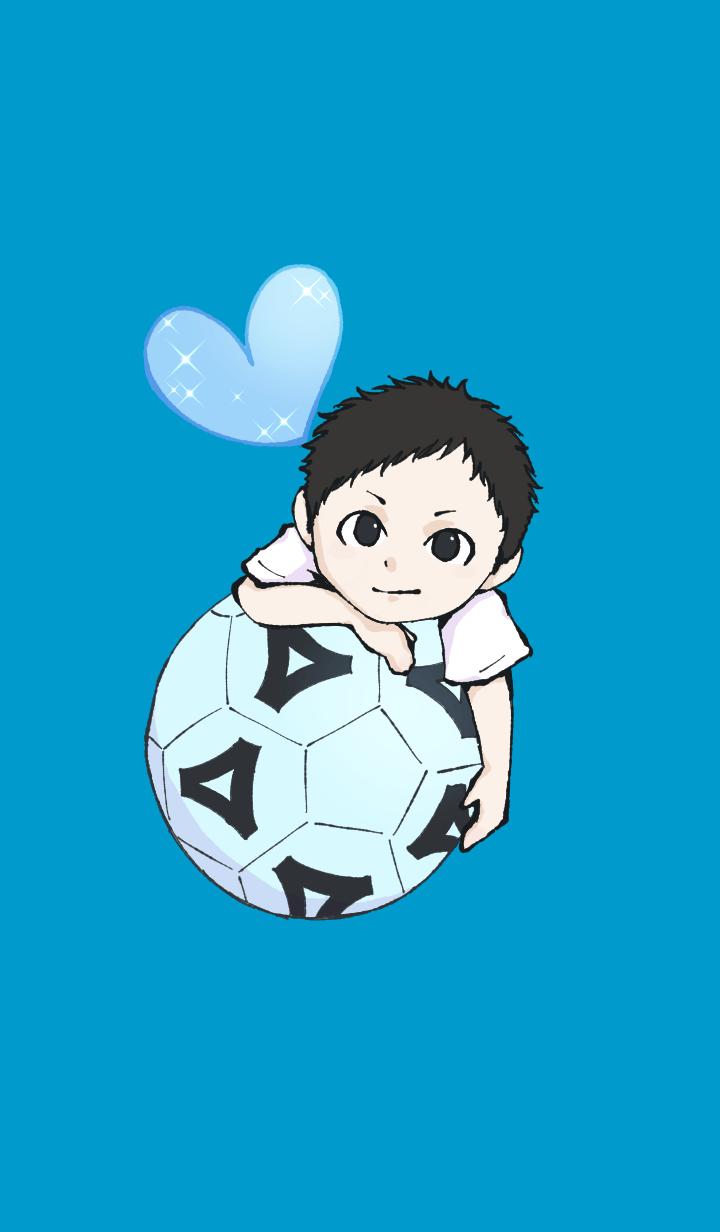 Boy in Soccer ball club 02