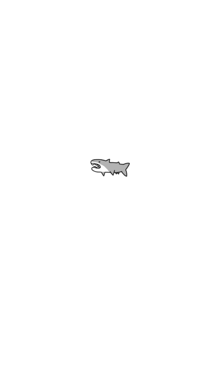 ゆるい。シンプル。サメ。