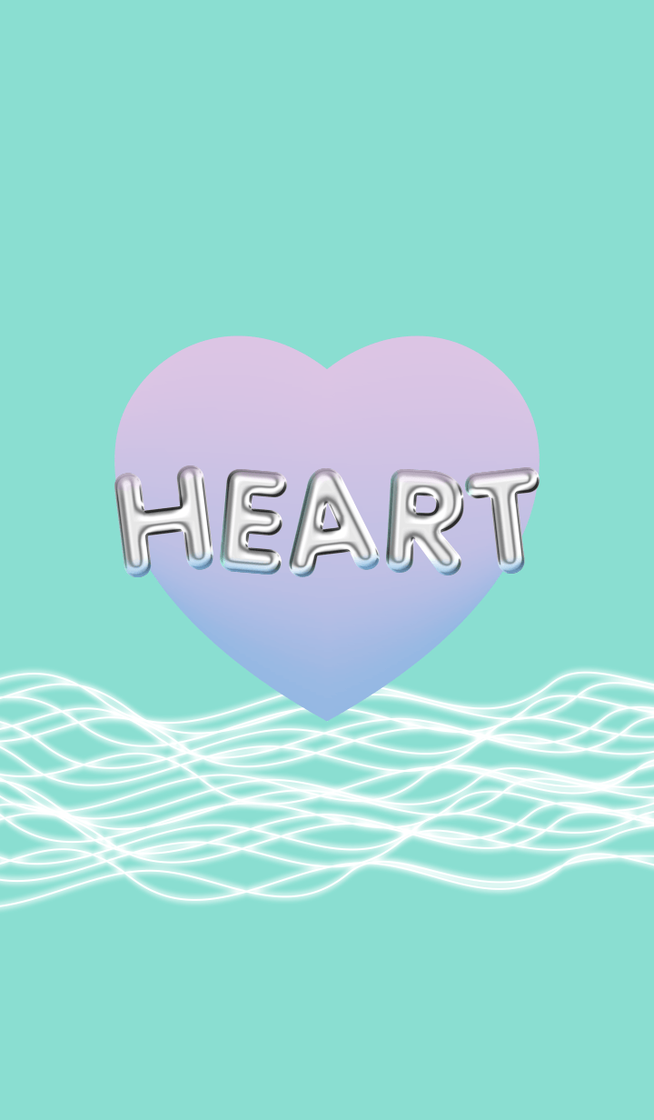HEART (pink and blue and green)