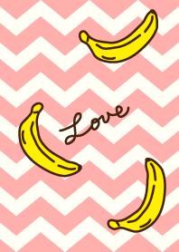 Banana - pink zigzag-joc
