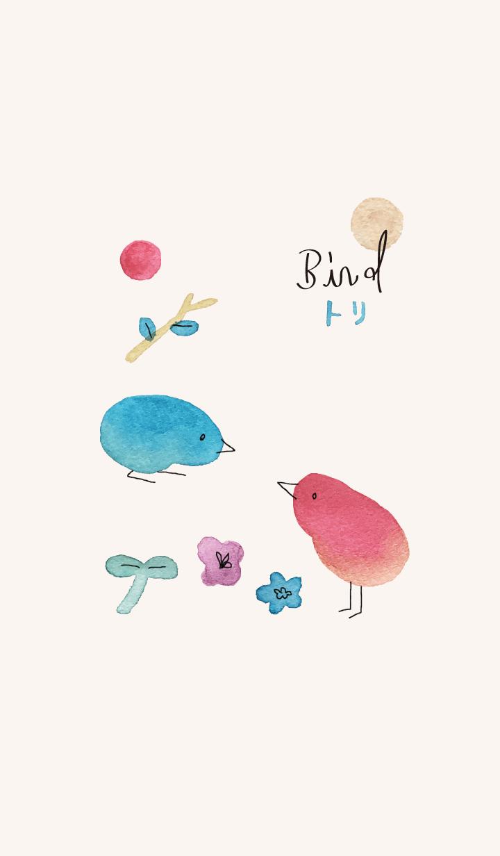 Bird theme. watercolor *