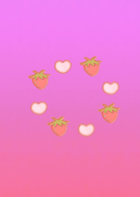 Lucky strawberry heart pink
