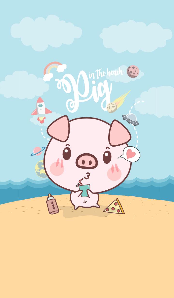 Pig in The Beach. (Galaxy ver.)
