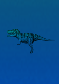 Blue Simple Dinosaur