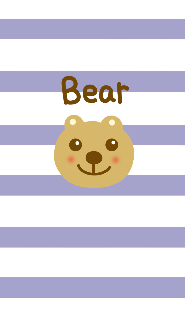 Bear and stripe from japan