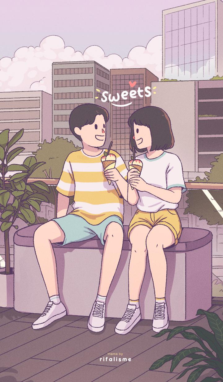 cute couple: sweets