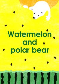 Watermelon and polar bear.yellow@SUMMER