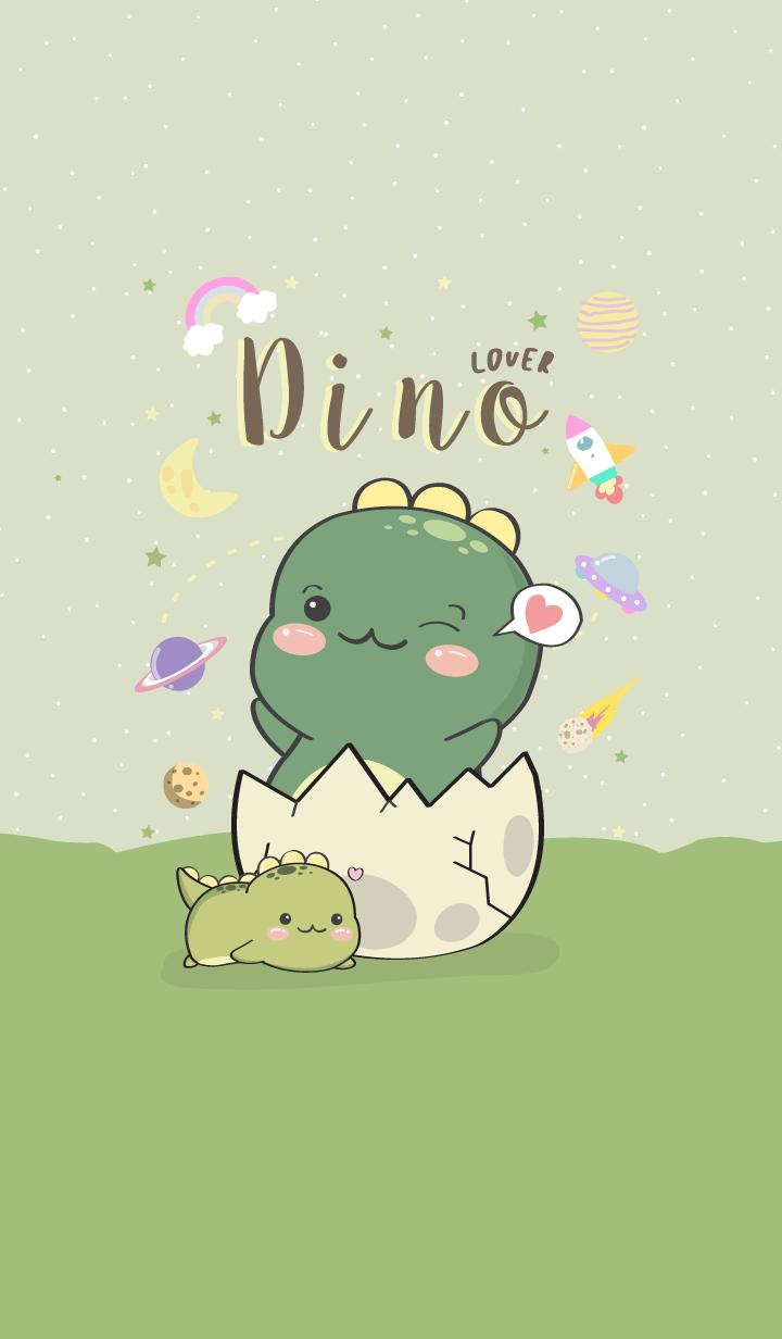 Dino Lover. green