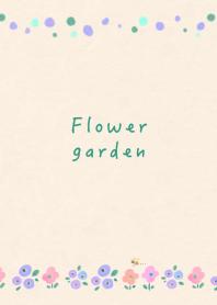 Fluffy flower garden