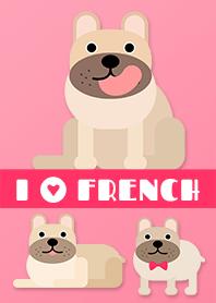 我愛法國鬥牛犬 (棕色)