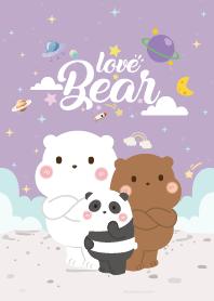 Three Bears Love Violet