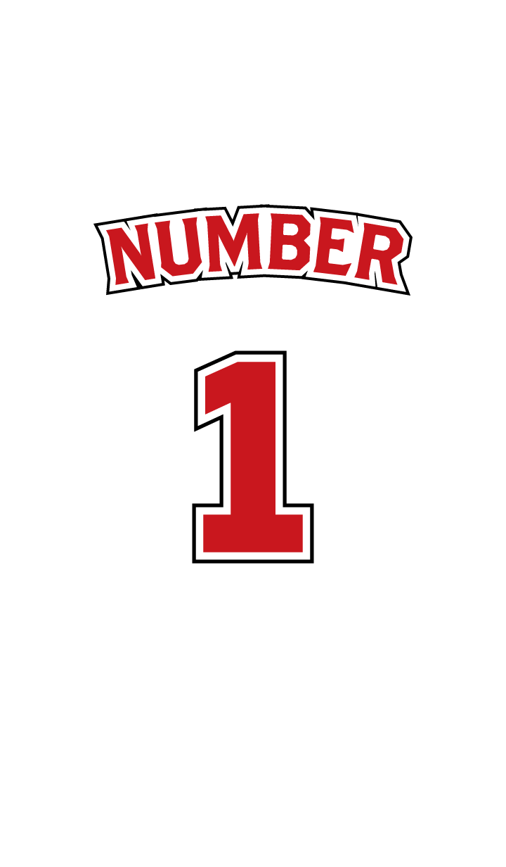 Number 1 White x Red version