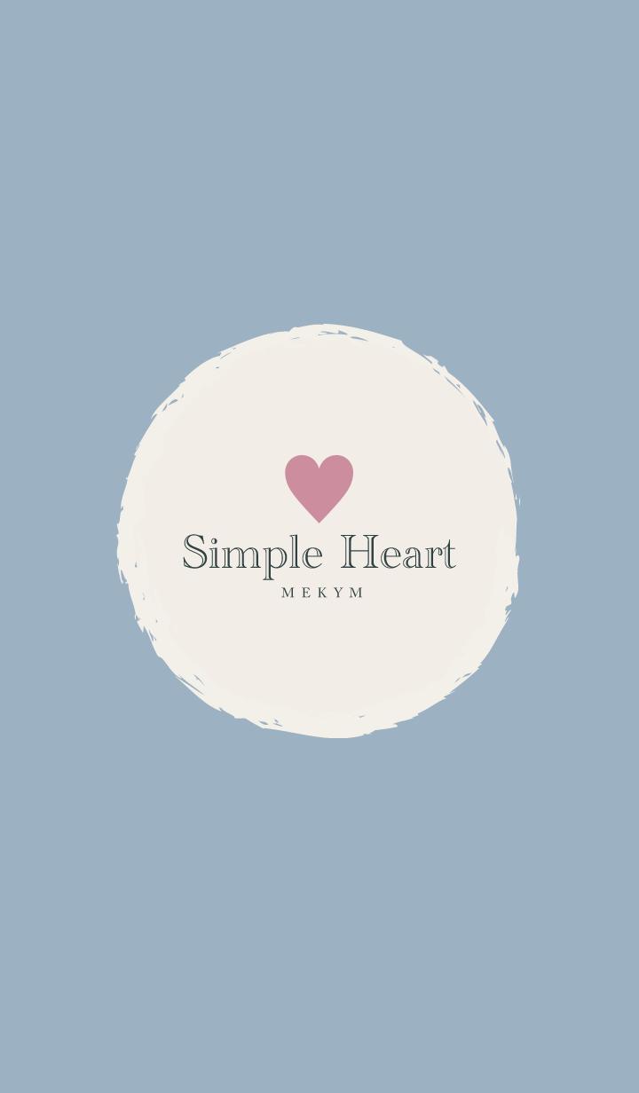 Simple Heart Blue -MEKYM- 2