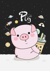Pig & Milk Tea On Space.