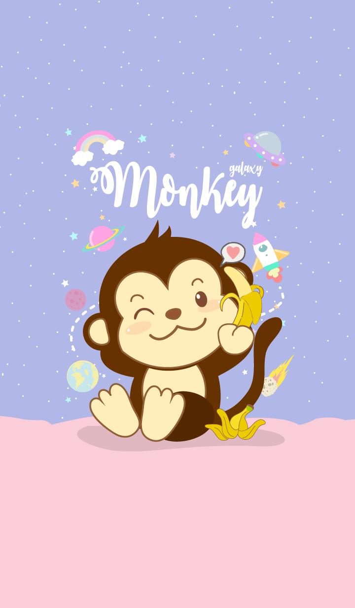 Monkey Galaxy Cute