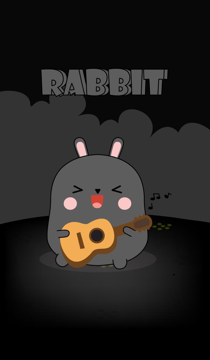 So Cute Black Rabbit