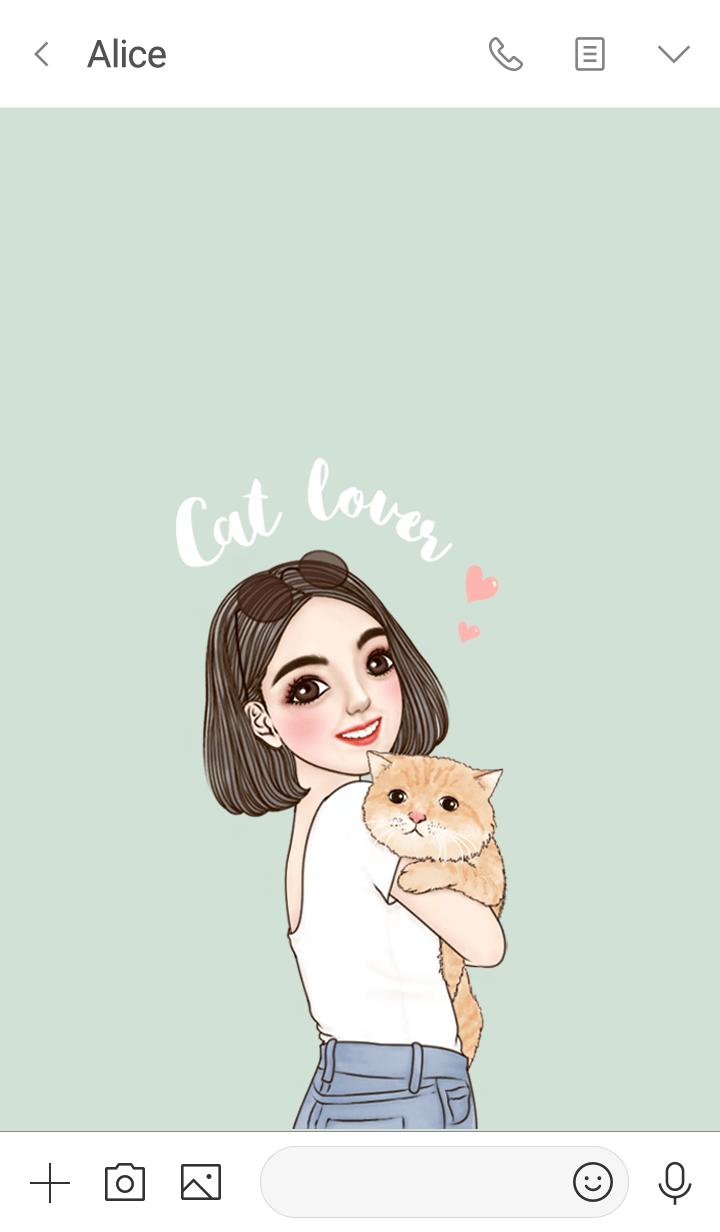 Girl Theme4 (Cat lover)