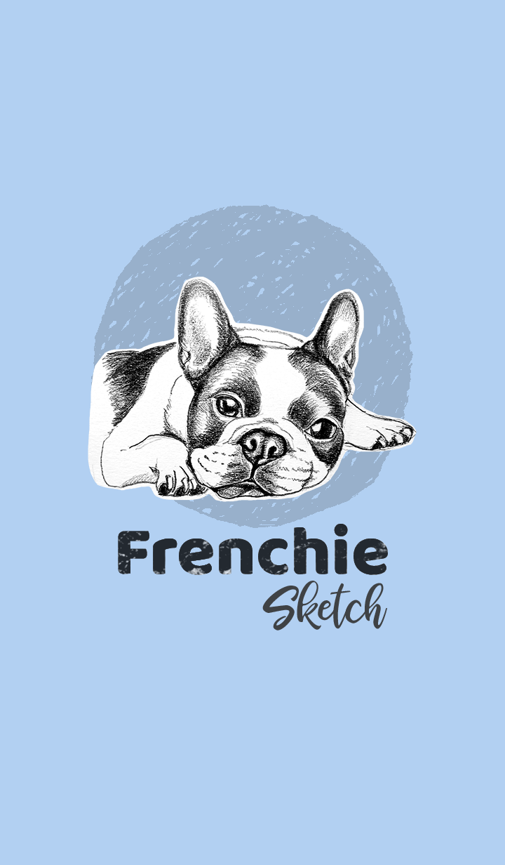 FRENCHIE Sketch (White, Black)