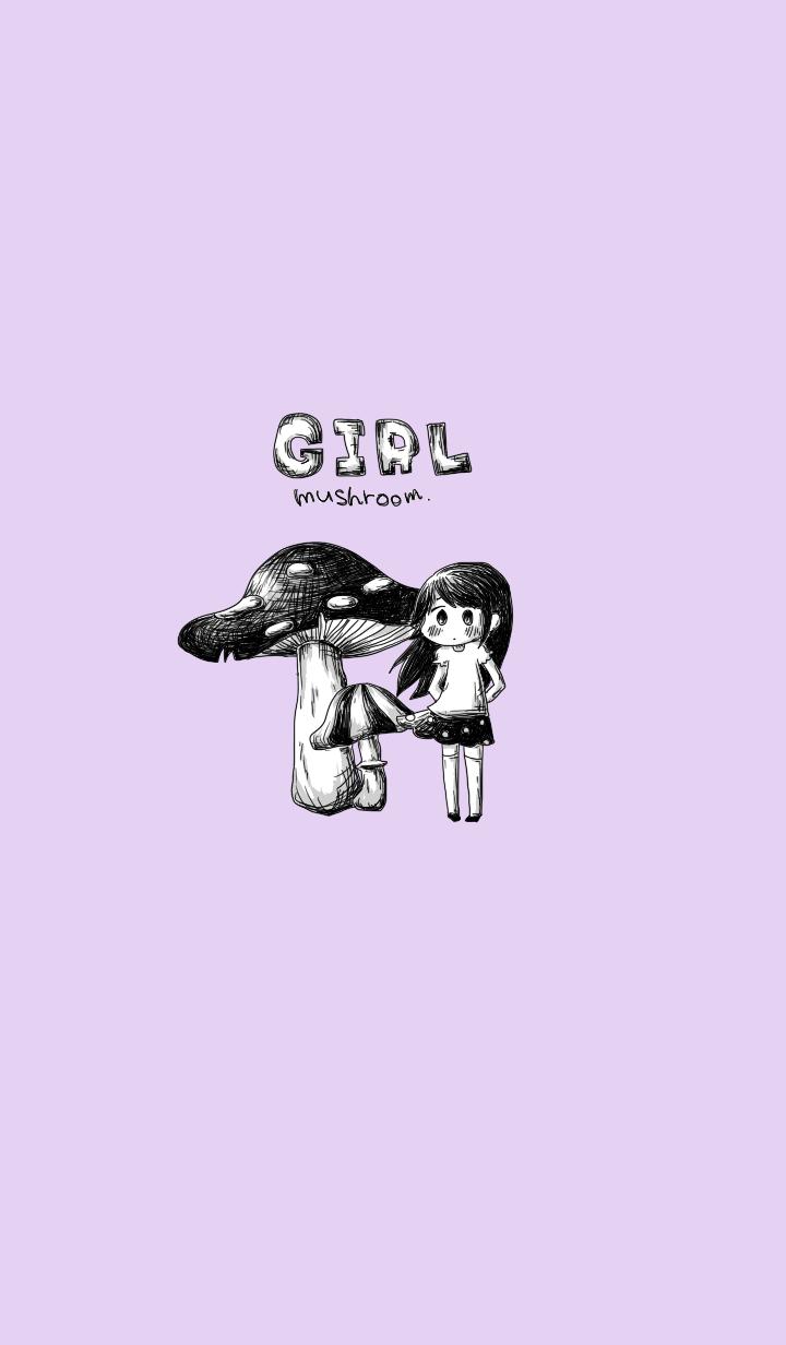 Girl and mushroom
