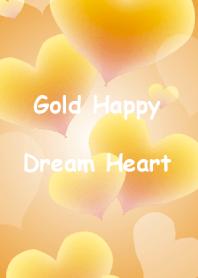 Gold Happy Dream Heart