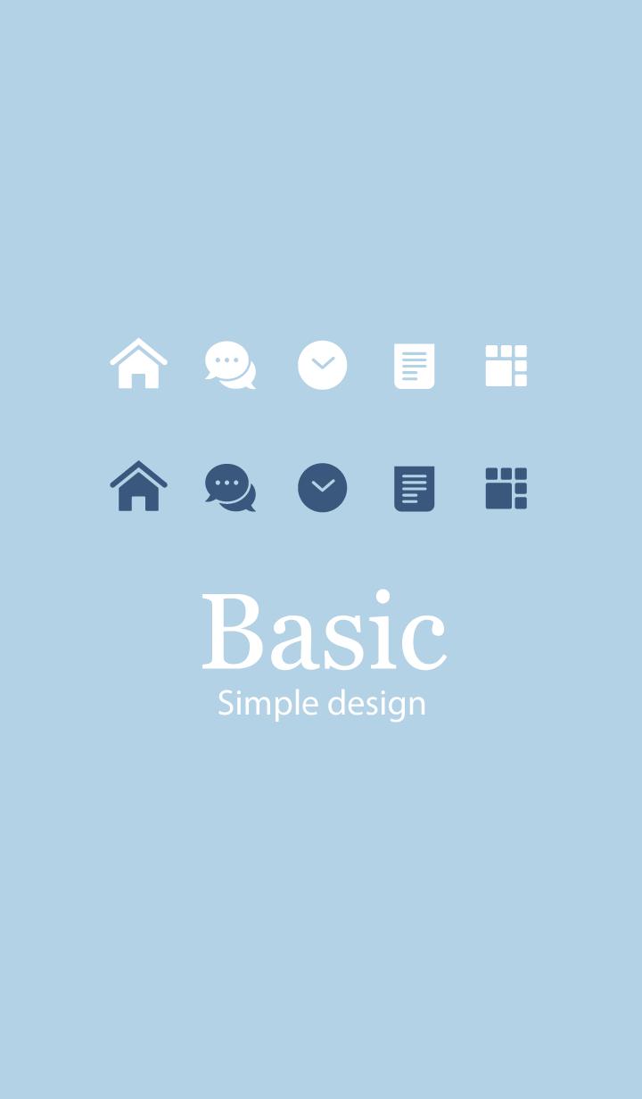 Basic. [Dusty Blue]