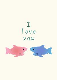 浪漫鯊魚情侶